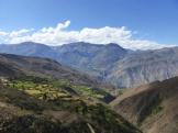 Blick auf die Cordillera Huayhuash, gegenüber