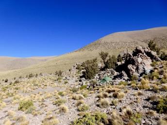 Campen vor dem grossen Aufstieg